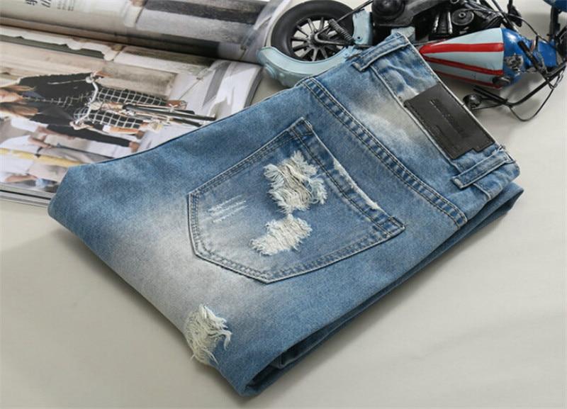 Patch Designer Տղամարդկանց ջինսեր Biker ջինս - Տղամարդկանց հագուստ - Լուսանկար 6