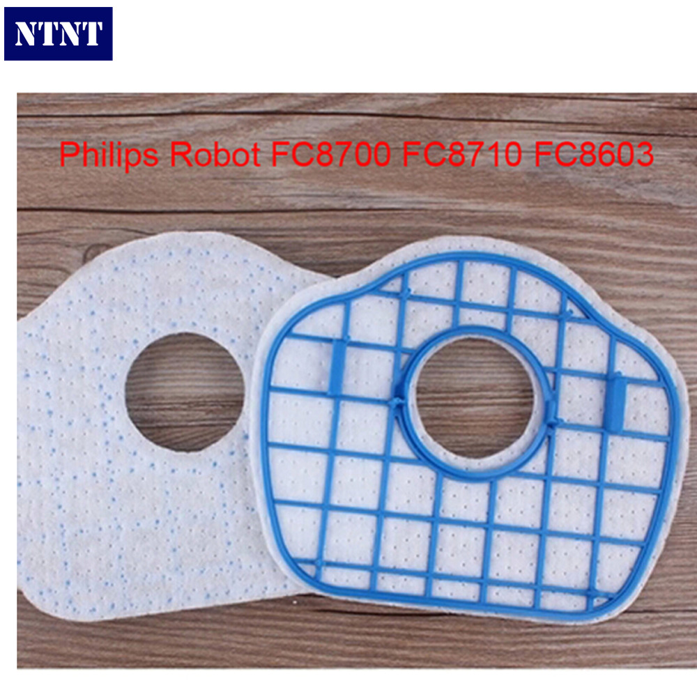 NTNT Vacuum Cleaner HEPA Filter Replacement for Philip Robot FC8700 FC8710 FC8603 vacuum cleaner hepa filter gy308 gy309 gy406 gy 408 129x148mm