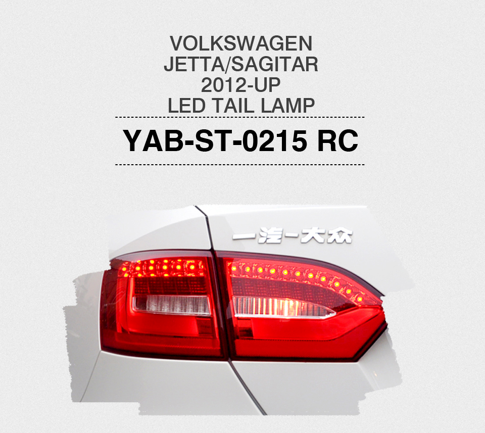 Free shipping for VLAND car tail lamp for Jetta Mk6 Tail Lights 2011-2014 LED taillight  DRL+Brake+Park+Signal free shipping vland factory car parts for camry led taillight 2006 2007 2008 2011 plug and play car led taill lights