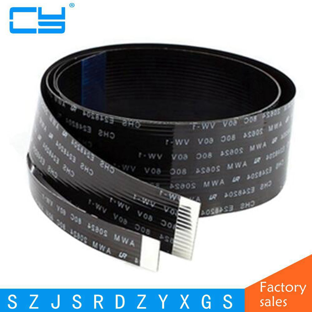FPV FPC Ribbon Flat Cable 0.5mm Pitch 20Pin for HDMI HDTV FPV Multicopter Aerial Photography 5 10 20 30 <font><b>50</b></font> <font><b>80</b></font> 100cm image
