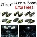 22 unid x canbus bombilla led paquete de kit de luz interior para audi a4 s4 rs4 b6 b7 quattro sedán convertible sólo (2002-2008)