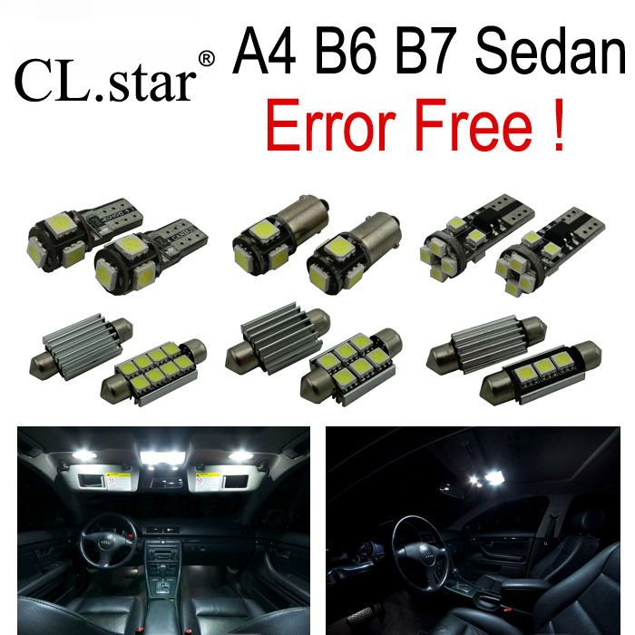 22pcs LED license plate bulb interior light full Kit for Audi A4 S4 RS4 B6 B7