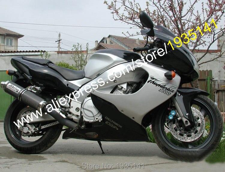 Vendite calde, per Yamaha YZF1000R Thunderace YZF 1000R 1997-2007 YZF 1000 R 97-07 Nero Argento Carrozzeria Sportbike Moto carenatura