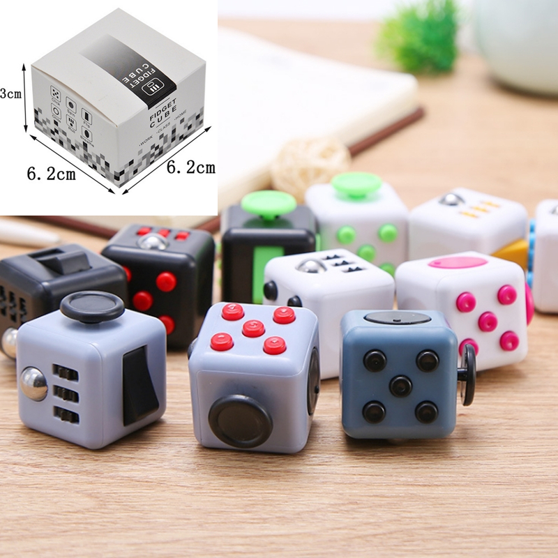 11 Styles Puzzle Magic Fidget Cube Stress Relief Toys Anti ADHD Stressreliever Cubo Hand Children & Young Adults Gifts Kids EDC princess girls long sleeved children s evening autumn new europe and the united states dress kids clothing red silk
