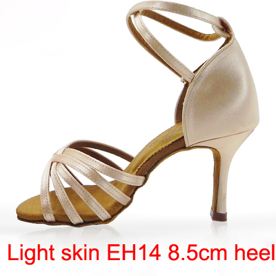 21Tyles High Quality Satin Ladies Latin Dance Shoe Kvinder Ballroom - Kondisko - Foto 5