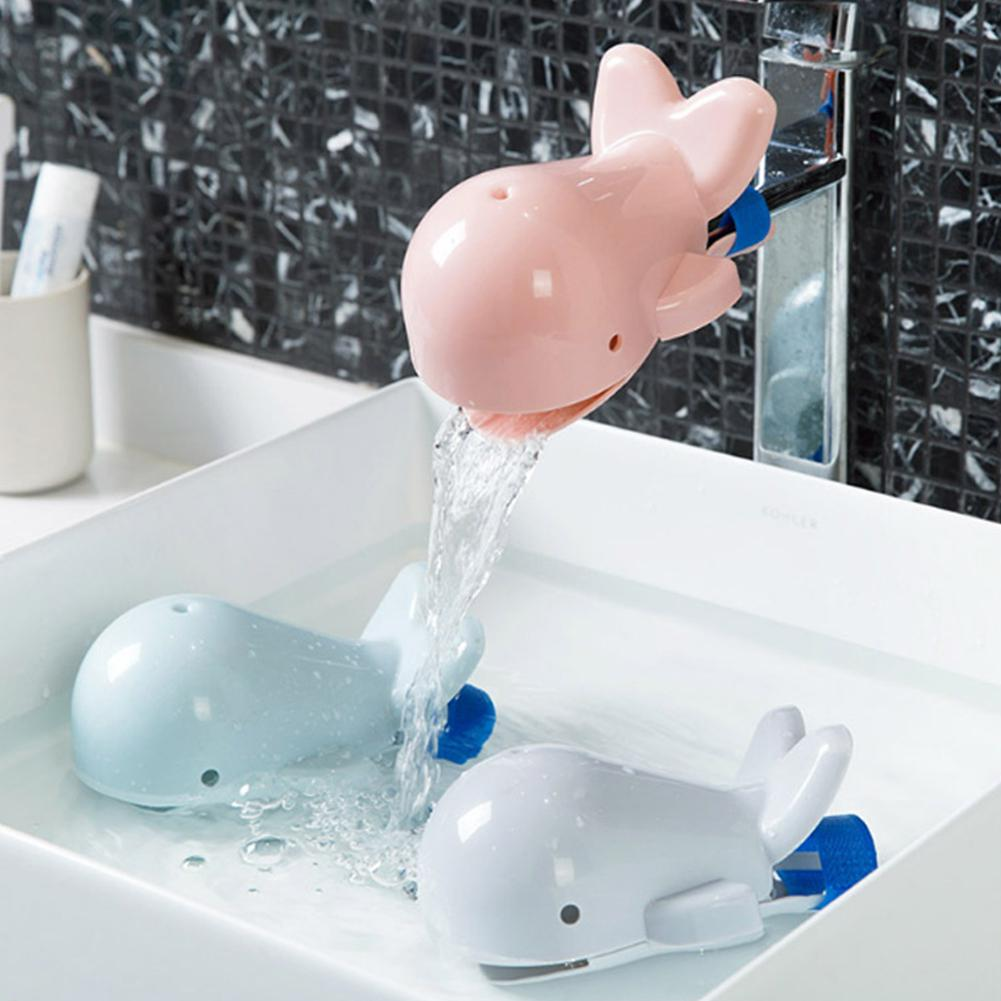 None Cute Cartoon Shape Splash-proof Faucet Extender For Toddler Kid Hand Washing