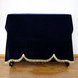 Pokrowiec na stołek Pleuche 1 sztuk odporne na kurz domu Texile złoty szmatka aksamitna pokrywa fortepian akcesoria gruby obudowa fortepianu w Pokrywy do pianina od Dom i ogród na