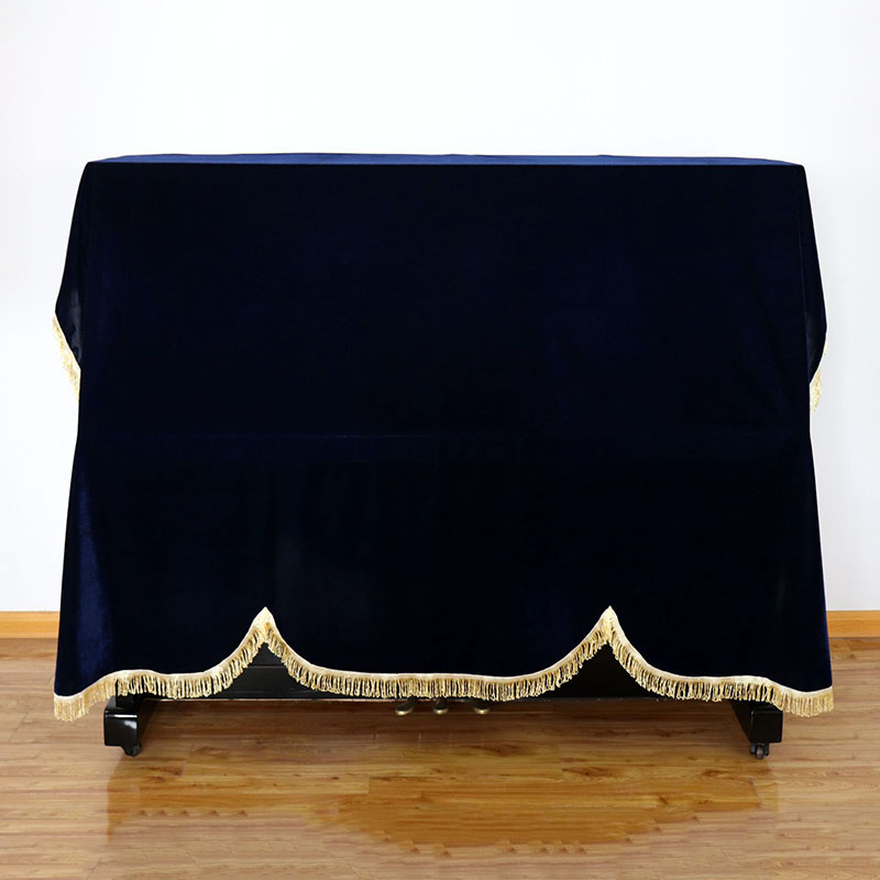 Stool Cover  Pleuche 1 PCS Dust-proof  Home Texile Gold Velvet Cloth Cover Piano Accessories Thick Piano Cover