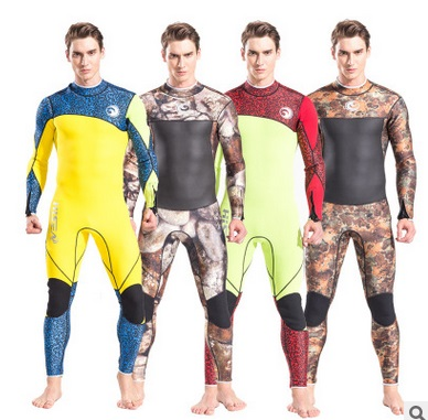 3mm Scuba Neoprene Men Keep Warm Diving Wetsuits Long Sleeve Water Sport Bodysuit Surfing Swimwear Bathing Fishing BeachWetSuits