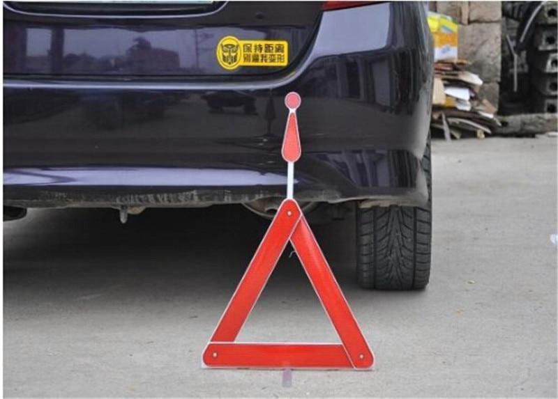 Triangle de stationnement en plastique plié panneau d'avertissement panneaux réfléchissants Triangles d'avertissement de voiture automatique pour demande de défaut de trépied 1 pc
