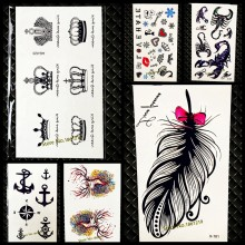 5e1a06366 Chic Cute King Queen Crown Tattoo Sticker Waterproof Arm Hand Tatoo For Men  Women Body Art Fake Temporary Tattoo Stickers GAQ020