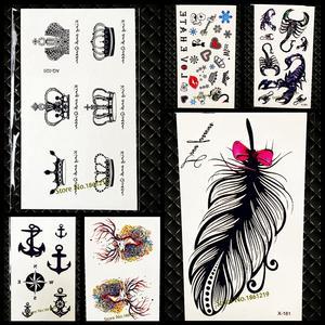 f67901d54 Chic GAQ020 Cute King Queen Crown Tattoo Sticker For Men Women Body Art Fake  Temporary