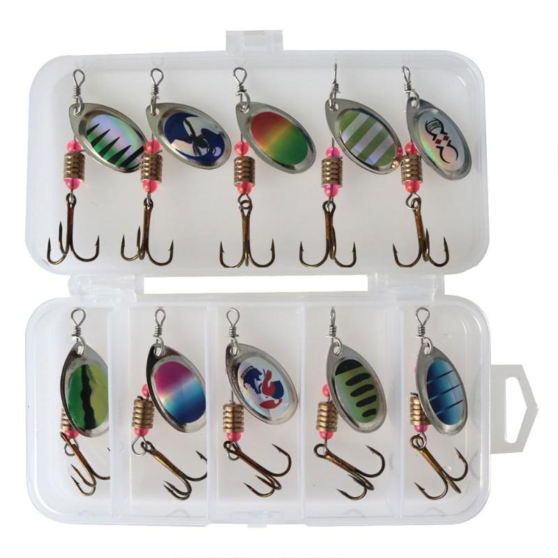 где купить Fishing Lures Sequin Spoon Wobbers Baits Sequin Spoon Baits Hand Spinner Crankbaits Fly Fishing Tackle With Feather Hooks дешево
