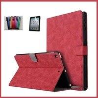 Biznes Crazy Horse wzór PU Leather Przerzuć Pokrywa Dla Apple iPad Air 2 iPad 6 Przypadku Dla ipad air2 + Screen Protector + stylus