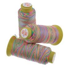 Urijk 180 м/рулон 0,6 мм хлопчатобумажная нить для рукоделия стежка цветная нить для вышивки вязание DIY Швейные аксессуары ручной работы