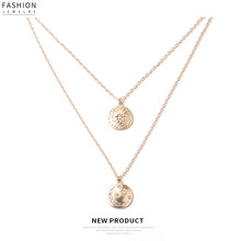 Hot Sale Star&Moon Necklace for Women Bohemia Long Chain Gold Color Multi-layer Micro Pave Crystal Jewelry 2019 New