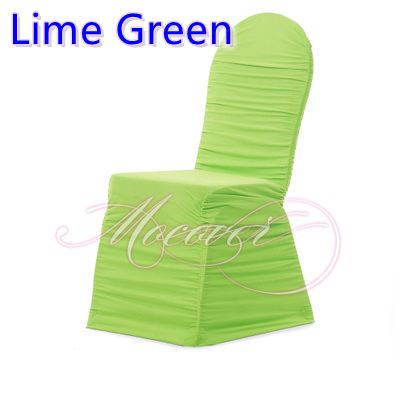 lime green chairs for sale chair covers hire nz colour ruffled universal lycra cover spandex pleated ruched wedding decoration