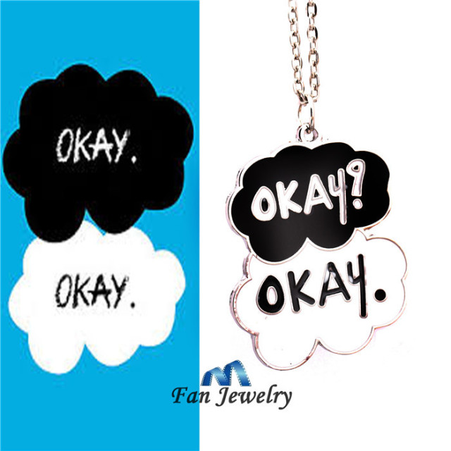 The Fault In Our Stars Okay Okay Clould Pendant Necklace Movies Jewelry  XL324