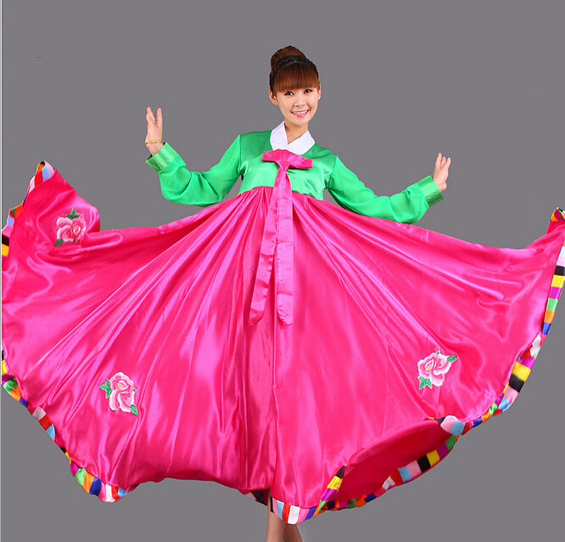 Koreanisches Kostüm Danse Russe Hanbok Modenschau Weibliche Traditionelle Hofkleid Minderheit Stickerei Kleidung Tanz