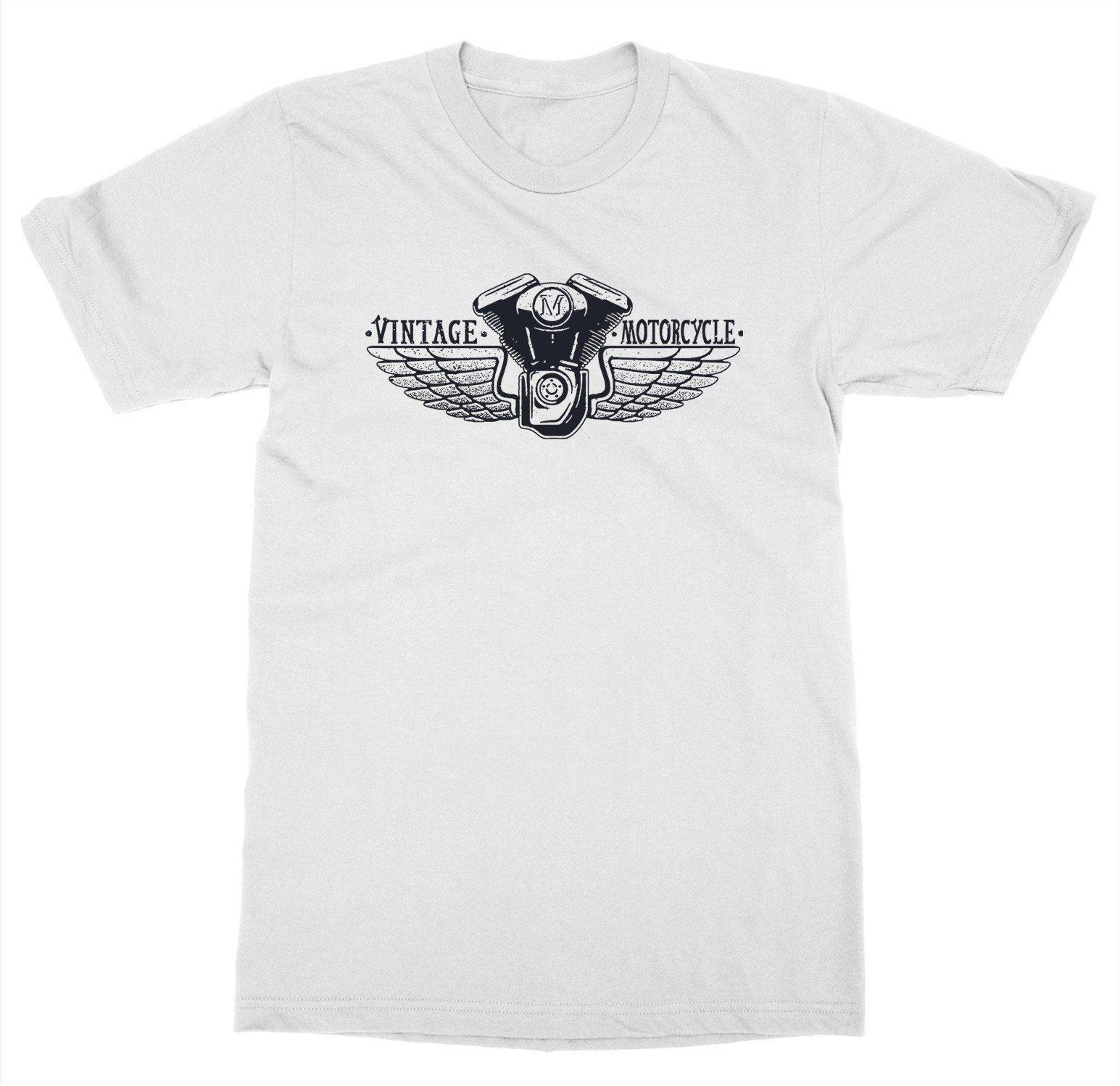 Vintage Motorcycle Wings T-Shirt Ride or Die Club Gear Race Biker Shop Live Fast