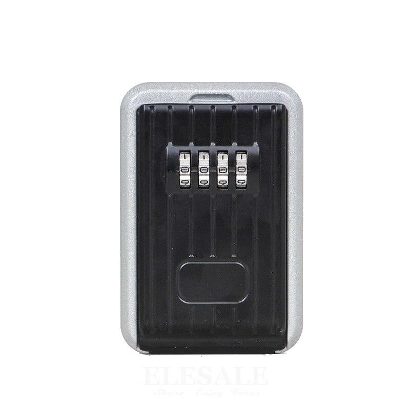 2018 New Metal Key Safe Box Storage Organizer 4 Digital Combination Lock Password Keys ID Cards Hidden Safe Box For Home Villa