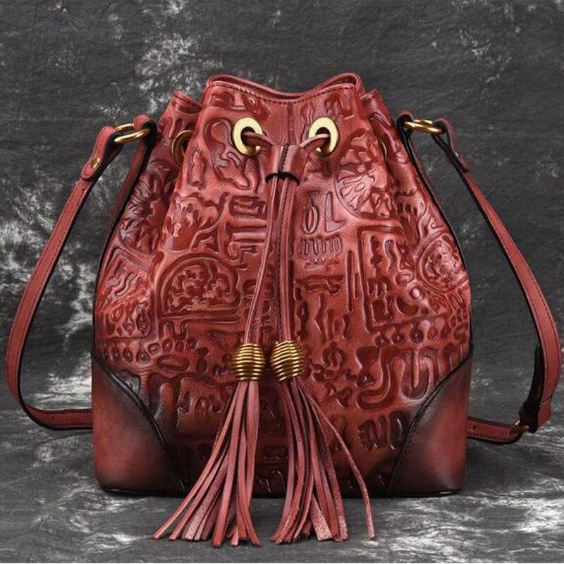 الرجعية جلد حقيقي السيدات عبر الجسم حقيبة للنساء عارضة الأزياء الكلاسيكية اليد حقيبة ساع الجلود حقيبة أنيقة-في حقائب الكتف من حقائب وأمتعة على  مجموعة 1