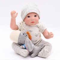 50cm Baby lifelike real touch Dolls soft Silicone Boneca Reborn Brinquedos Bonecas children's day gifts toys bed time plamates