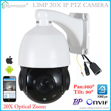 New 5 inch Mini 1.3MP HD IP High Speed Dome Camera 20X Optical Zoom 960p Outdoor Waterproof ONVIF CCTV camera with XMeye APP