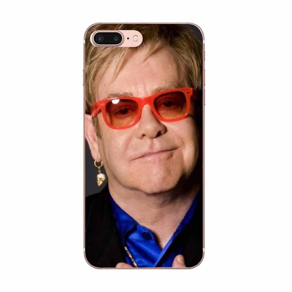 TPU Capa Cover Case untuk Galaxy J1 J2 J3 J330 J4 J5 J6 J7 J730 J8 2015 2016 2017 2018 mini Pro Elton John