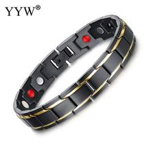 Men Women Healthy Magnetic Bracelet Titanium Steel Power Therapy Magnets Bangles Lovers Gift Steel Bracelet Fashion Jewelry 2019 fashion men magnetic bracelets silver color titanium steel healthy therapy bracelet for mens cuff bangles wristband jewelry
