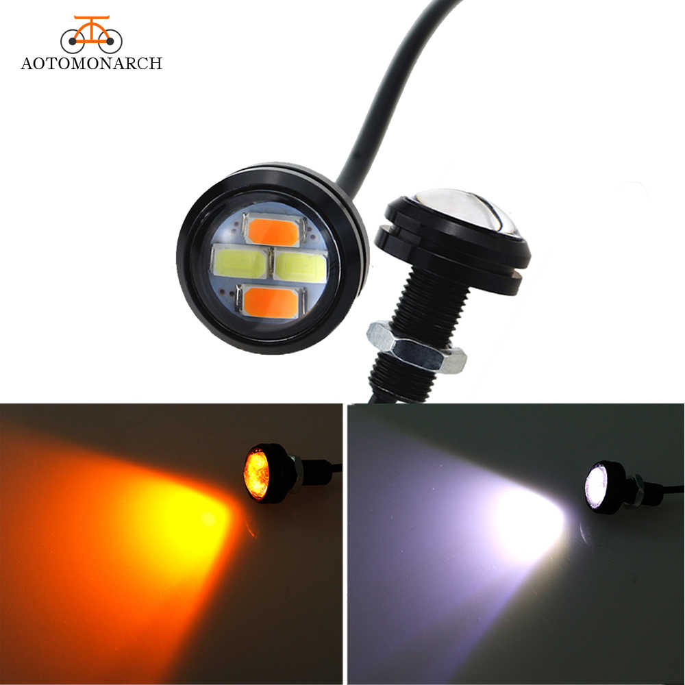 Aotomonarch 2pcs 23MM LED Daytime Running Light Eagle Eye Waterproof Turn Signal Light DRL Car Styling 12V For All Cars AJ