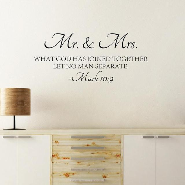 Mr Mrs Love Quotes Bible Verse Wall Sticker Vinyl Self Adhesive Adorable Quotes From The Bible About Love
