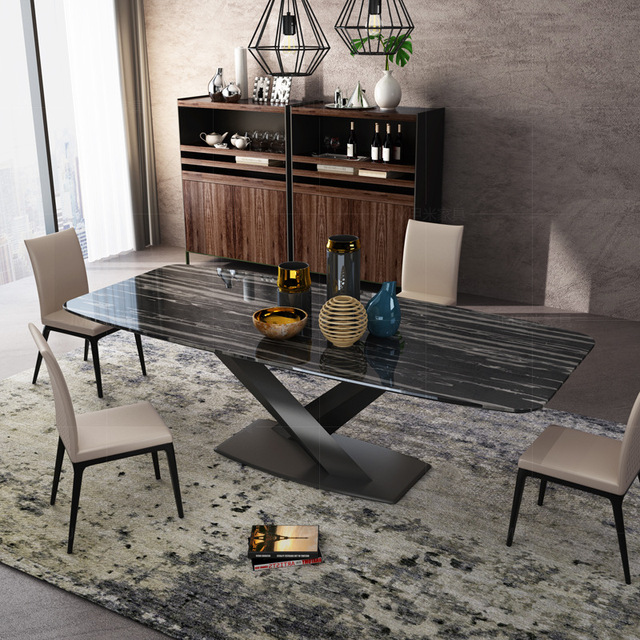 Marble Rectangular Dining Table 5