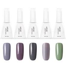 2016 Venta Caliente Gel Esmalte de Uñas UV Moda Rojo/Gris Color Puro Pulimento del gel Empapa de Arte de Uñas Esmalte de Uñas de Gel Curado UV Lámpara