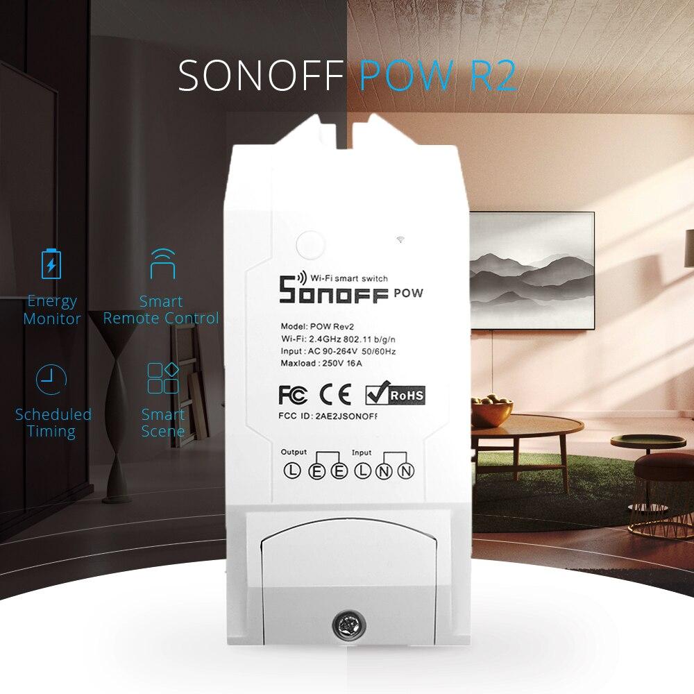 Sonoff Pow R2 WiFi Drahtlose Schalter AUF/Off 16A Smart Home Mit Echtzeit Power Verbrauch Messung Appliance Remote control