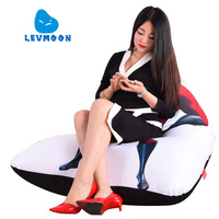 LEVMOON Beanbag Sofa Chair Superman M Seat Zac Comfort Bean Bag Bed Cover Without Filler Cotton