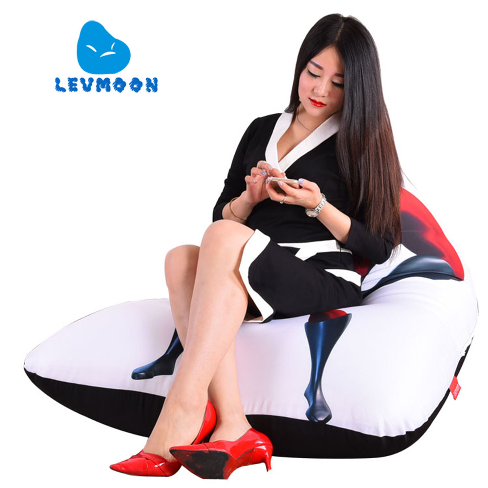 LEVMOON Beanbag Sofa Chair Superman M Seat zac Comfort Bean Bag Bed Cover Without Filler Cotton Indoor Beanbag Lounge Chair levmoon beanbag sofa chair jobs seat zac comfort bean bag bed cover without filling cotton indoor beanbags lounge chair