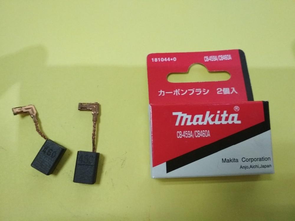 1 Pair Original Makita Carbon Brushes For Electric Motors CB458 CB459 CB460 CB461 GA4534 GA4530 Grinder 6x9x13mm