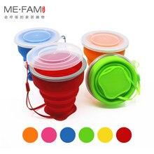 Tasse télescopique pliante en Silicone pour enfants, petite tasse Portable télescopique avec couvercle anti-soleil tasses à café d'extérieur pour les enfants boisson au cours des voyages