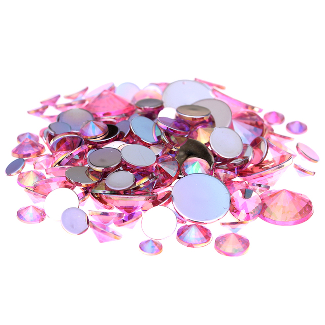 b65f5f2b37 Acrylic Rhinestones Light Pink AB 4mm 5mm 6mm 10mm And Mixed Sizes Glue On  Stones DIY Backpack Jewelry Making Supplies-in Rhinestones & Decorations ...