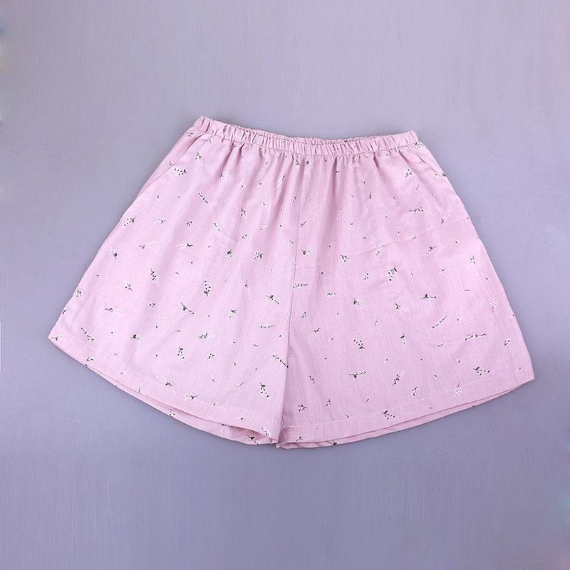 UNIKIWI. Милые летние хлопковые Пижамные шорты для сна, женские свободные пижамные штаны с эластичной резинкой на талии размера плюс M-XL отдыха. 21 цвет - Цвет: 006