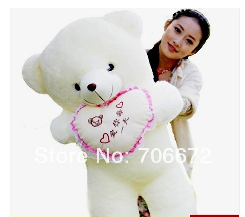 New stuffed chinese words means  love you every day  teddy bear Plush 120 cm Doll 47 inch Toy gift wb8114 fishing joy every day 480g