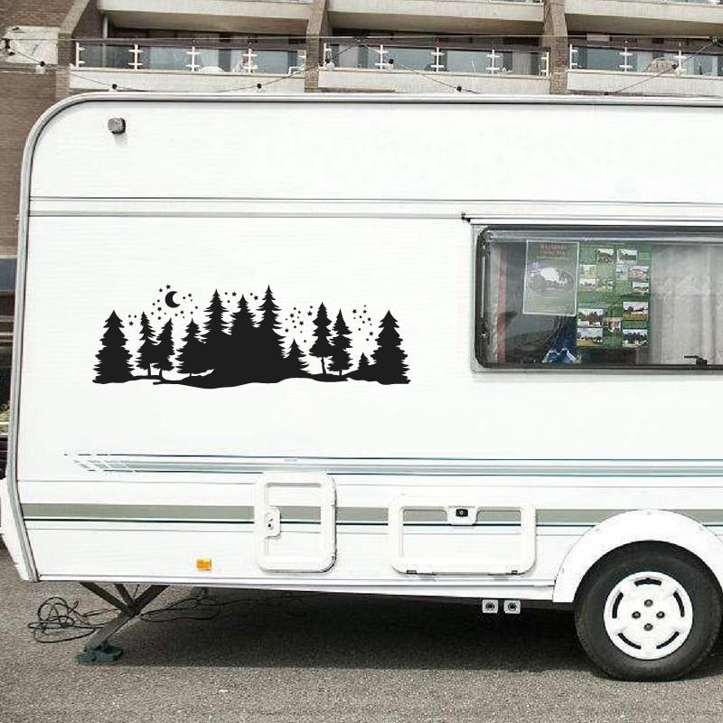 Subaru Mountain Trees Decal Forest Vinyl Graphic Camper RV Trailer Truck