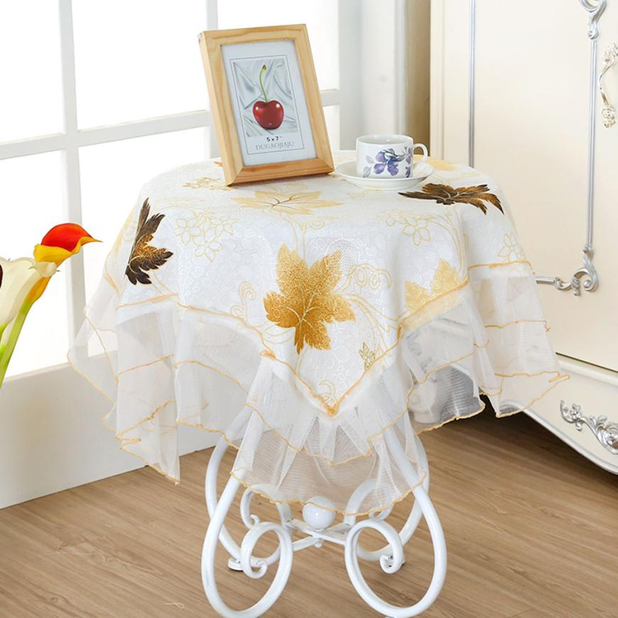 New Qualified Hot Sell Table Cloth Tablecloths Square Coffee Table With More Drape Fabric