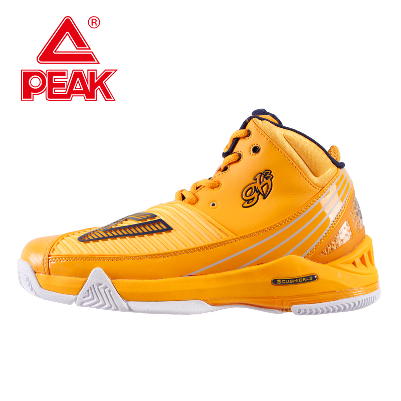 PEAK SPORT Star Series George Hill GH3 Cool Orange Men Basketball Shoes CUSHION-3 NON-MARKING Tech Sneaker EUR 40-50 peak sport professional men women basketball shoes cushion 3 revolve tech sneaker breathable athletic ankle boots size eur 40 48