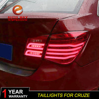 Car Styling Tail Lamp case for Chevrolet Cruze taillights 2009 2014 Cruze Taillights LED Tail Light Rear Lamp LED Stop Lamp