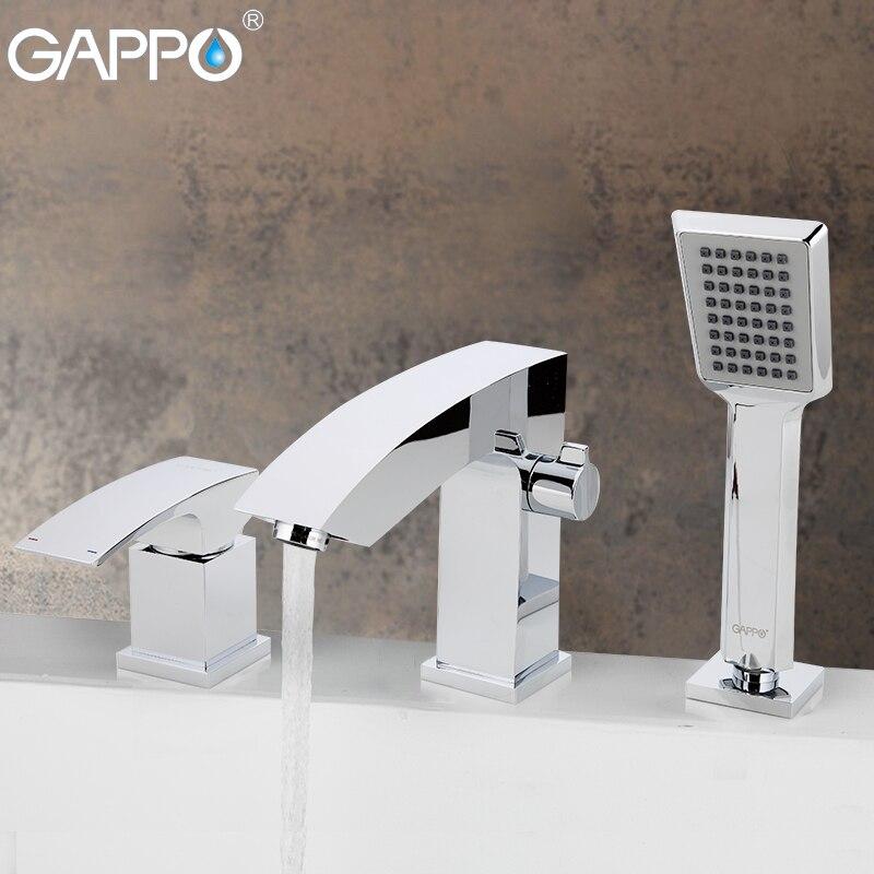 GAPPO robinet de baignoire mitigeur salle de bain cascade baignoire robinet pont monté mélangeur robinet de bain pluie robinets de salle de bains
