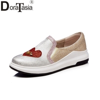 DoraTasia Big Size 34 43 Brand Design Slip On Loafers Flats Women Shoes Spring Comfortable Leisure