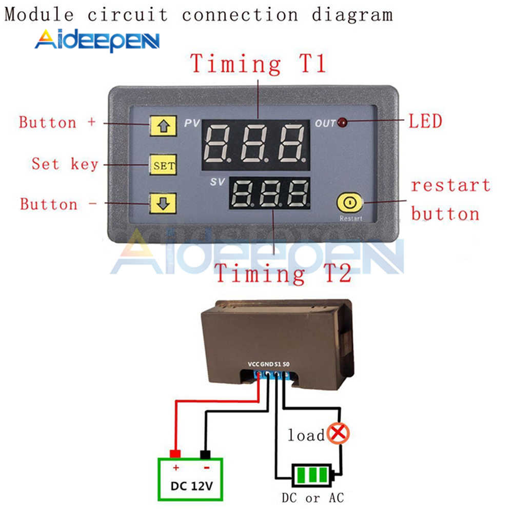 medium resolution of  ac 110v 220v cycle timer delay relay temperature controller digital thermometer regulator thermostat controller switch sensor
