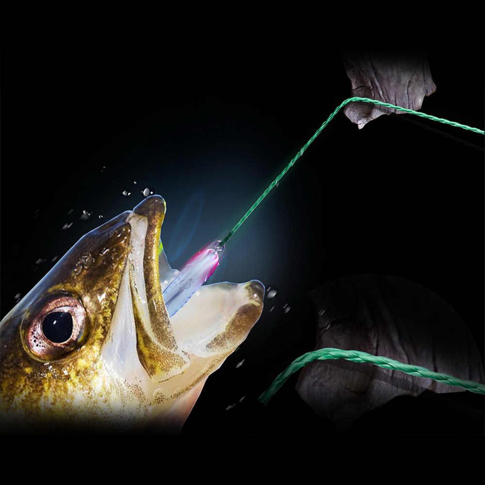Hilo de pesca trenzado de 4 hebras BAKAWA 300M 100% PE, sedal de pesca multifilamento, superfuerte para pesca de carpa